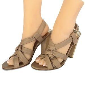 Charles David Shoes - Charles David Heel Sandal Women 8 M Tan Leather